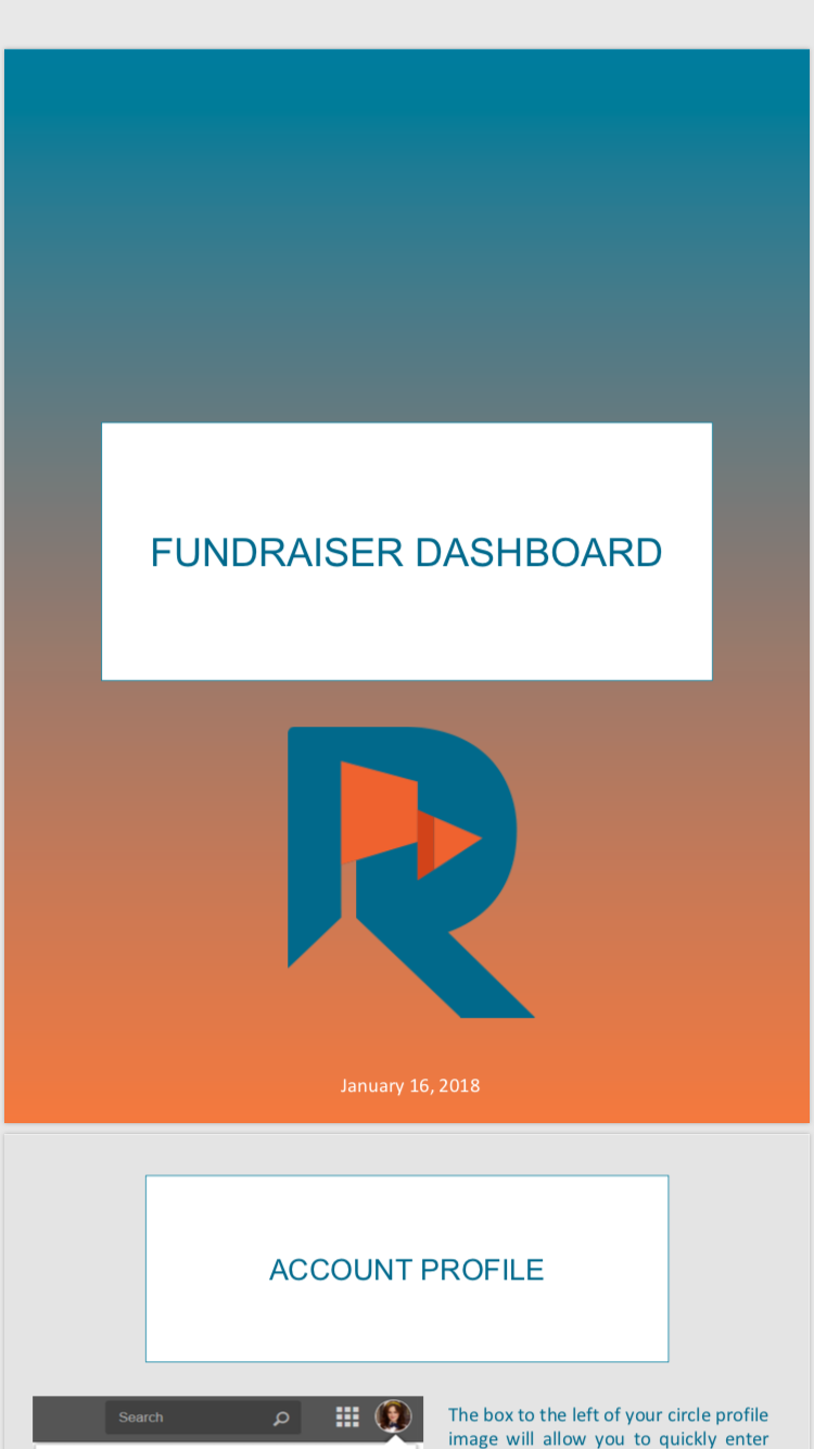Rallybound Fundraiser Dashboard Form