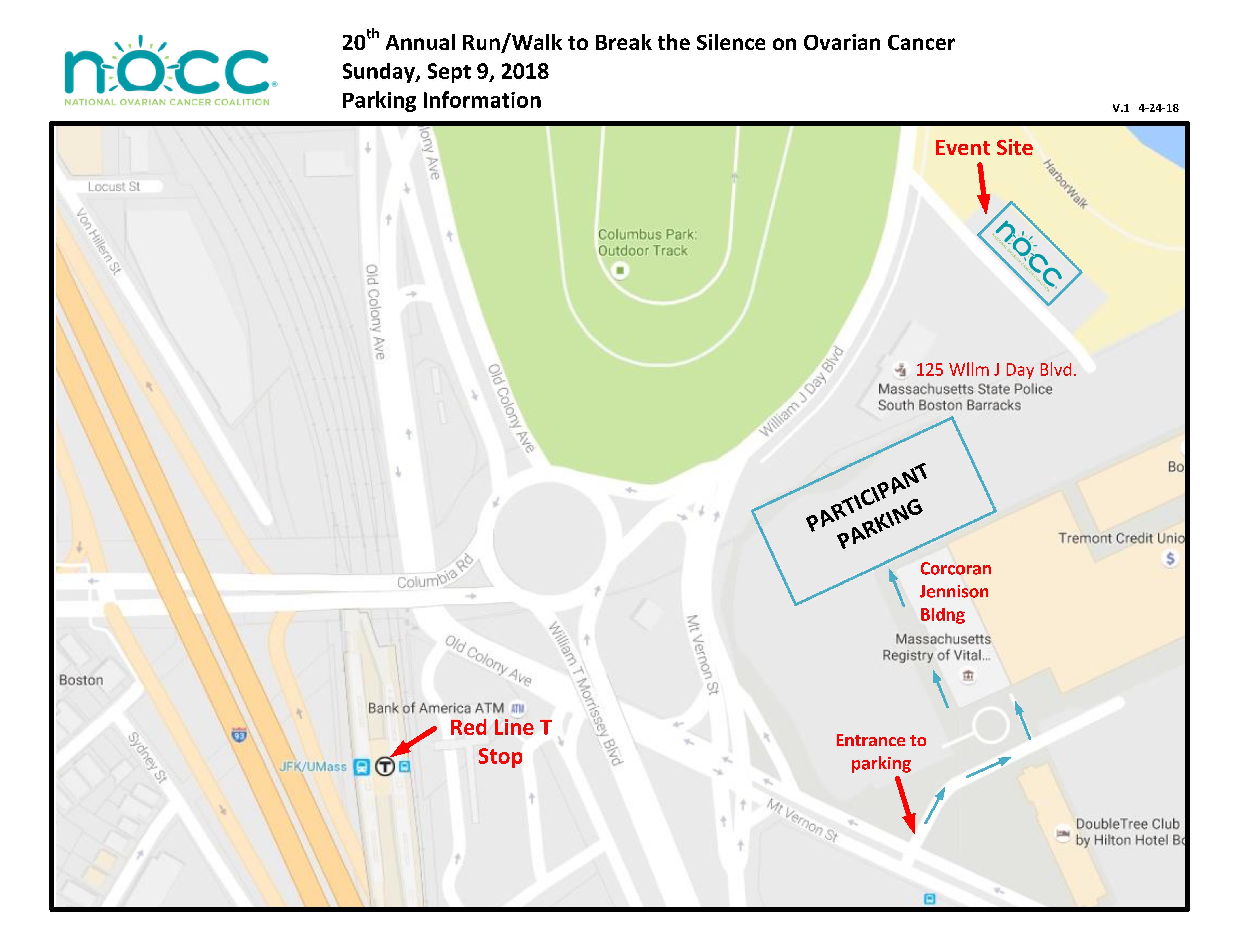 Maps and Parking - NOCC - Massachusetts Run/Walk
