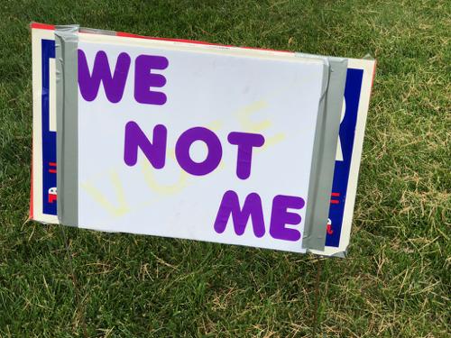 We, not me!