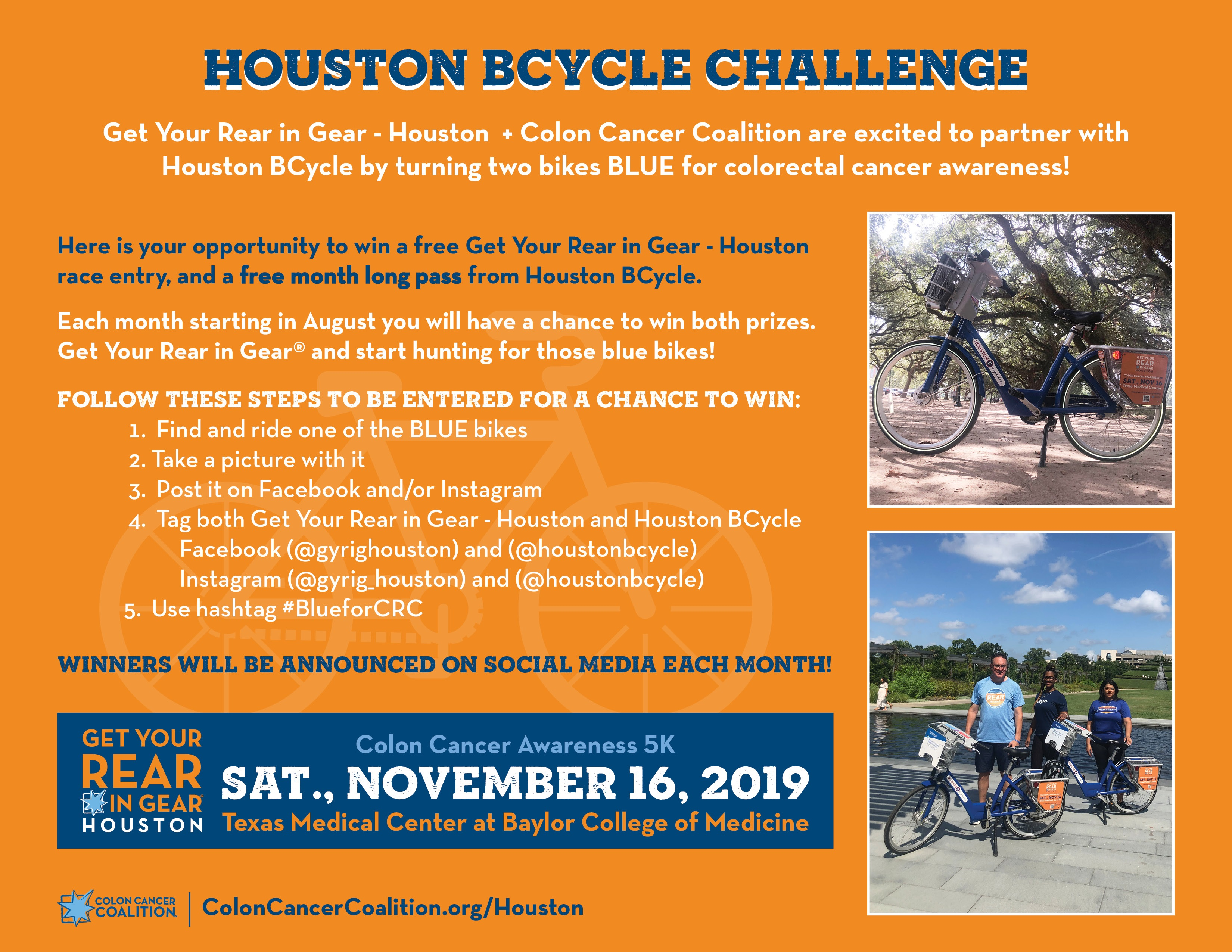 Bikes Turn Blue For Colorectal Cancer Houston Bcycle