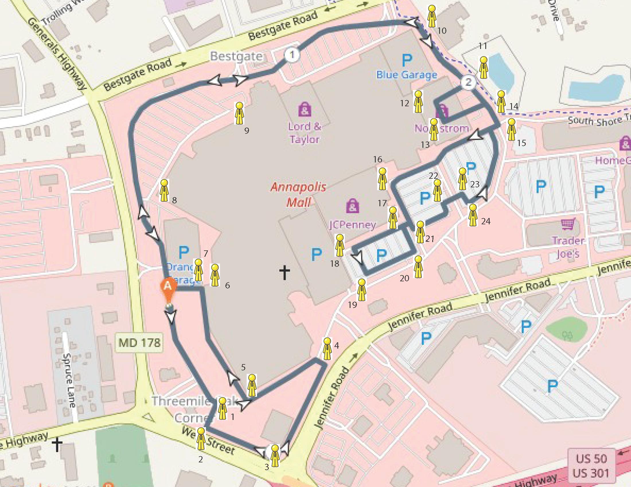 Maps and Parking - NOCC - Annapolis Run/Walk