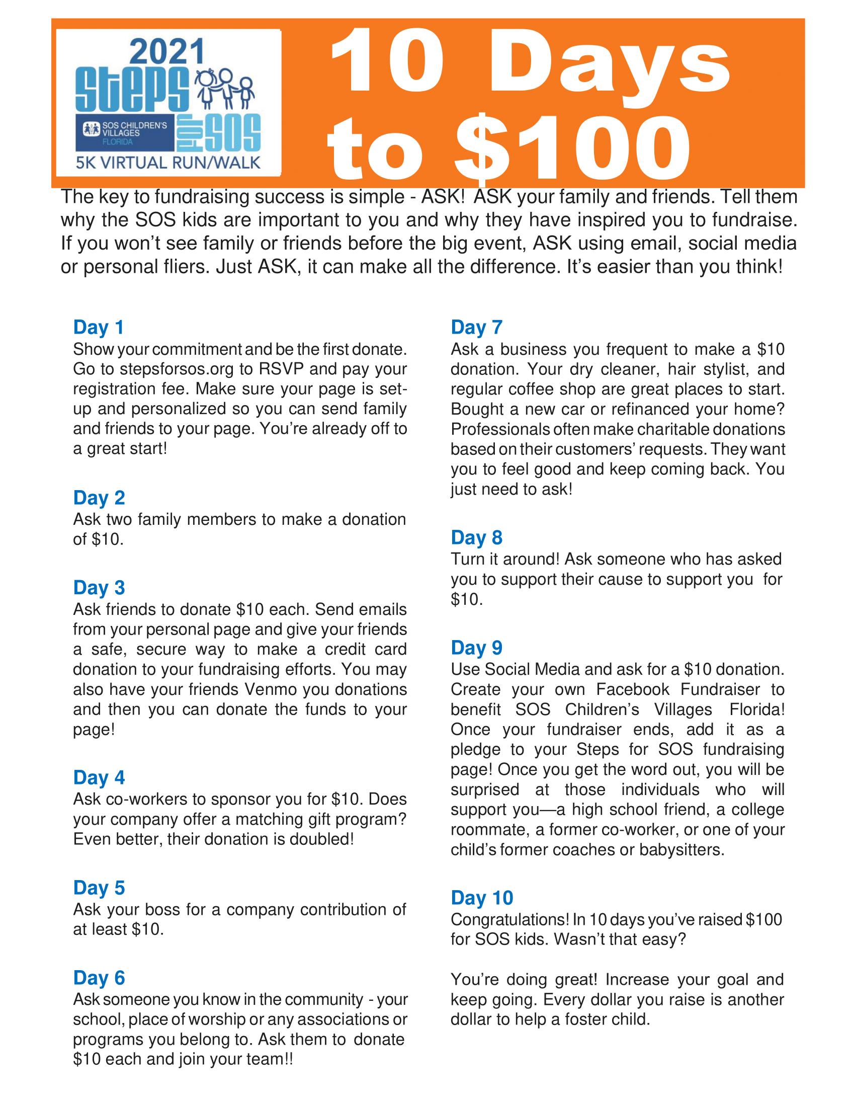 10 Days to $100