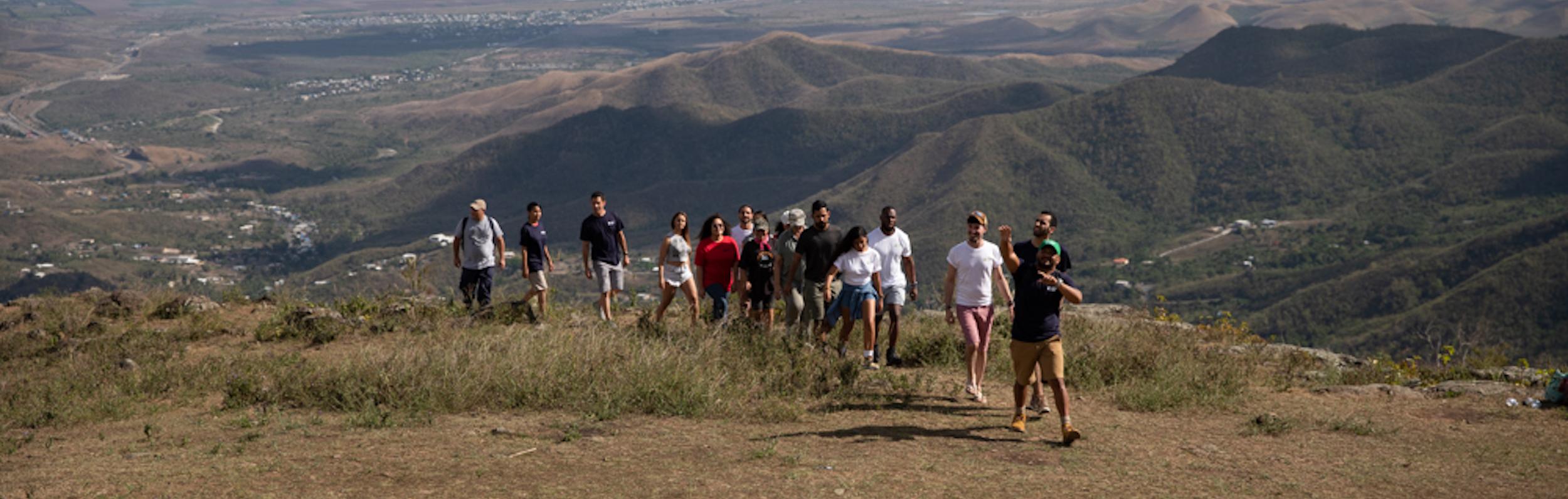 Girls hiking